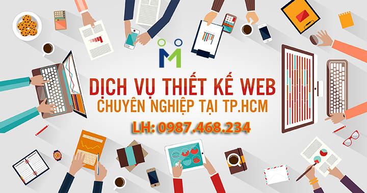 Thiết kế web chuyên nghiệp TPHCM