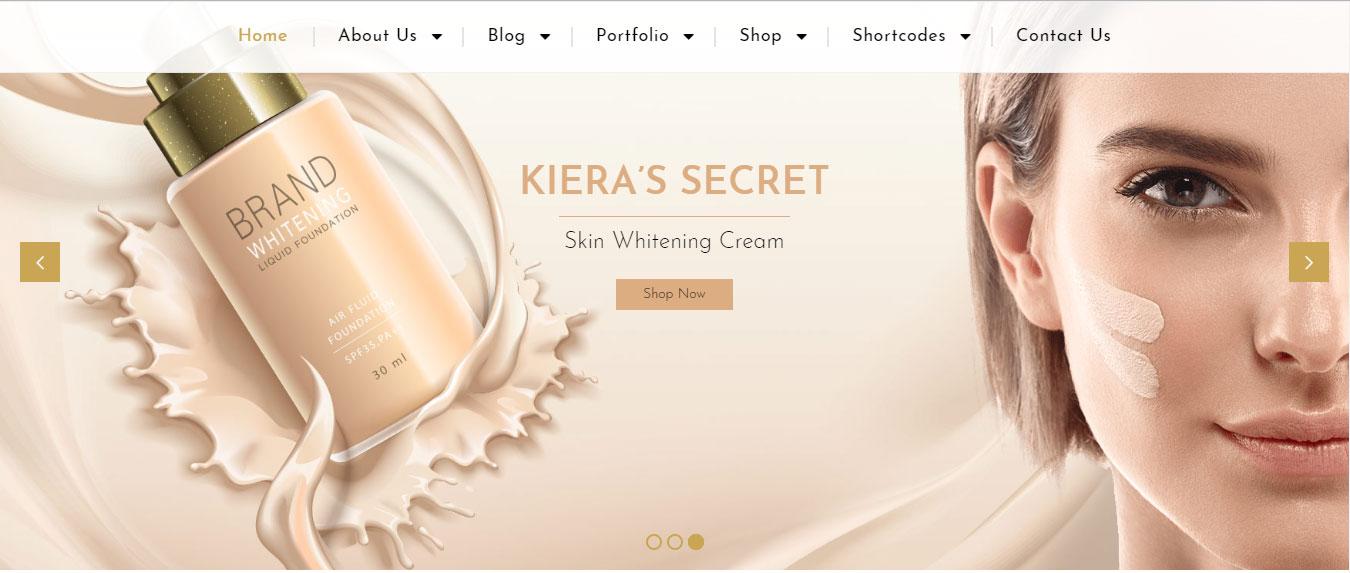 Mẫu website bán hàng mỹ phẩm