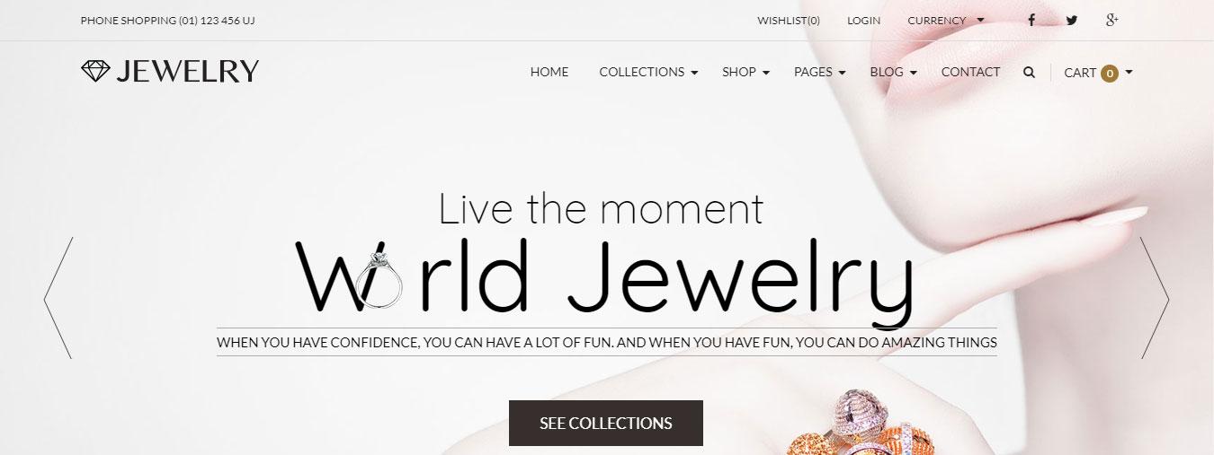 Mẫu web bán hàng đồ trang sức thời trang