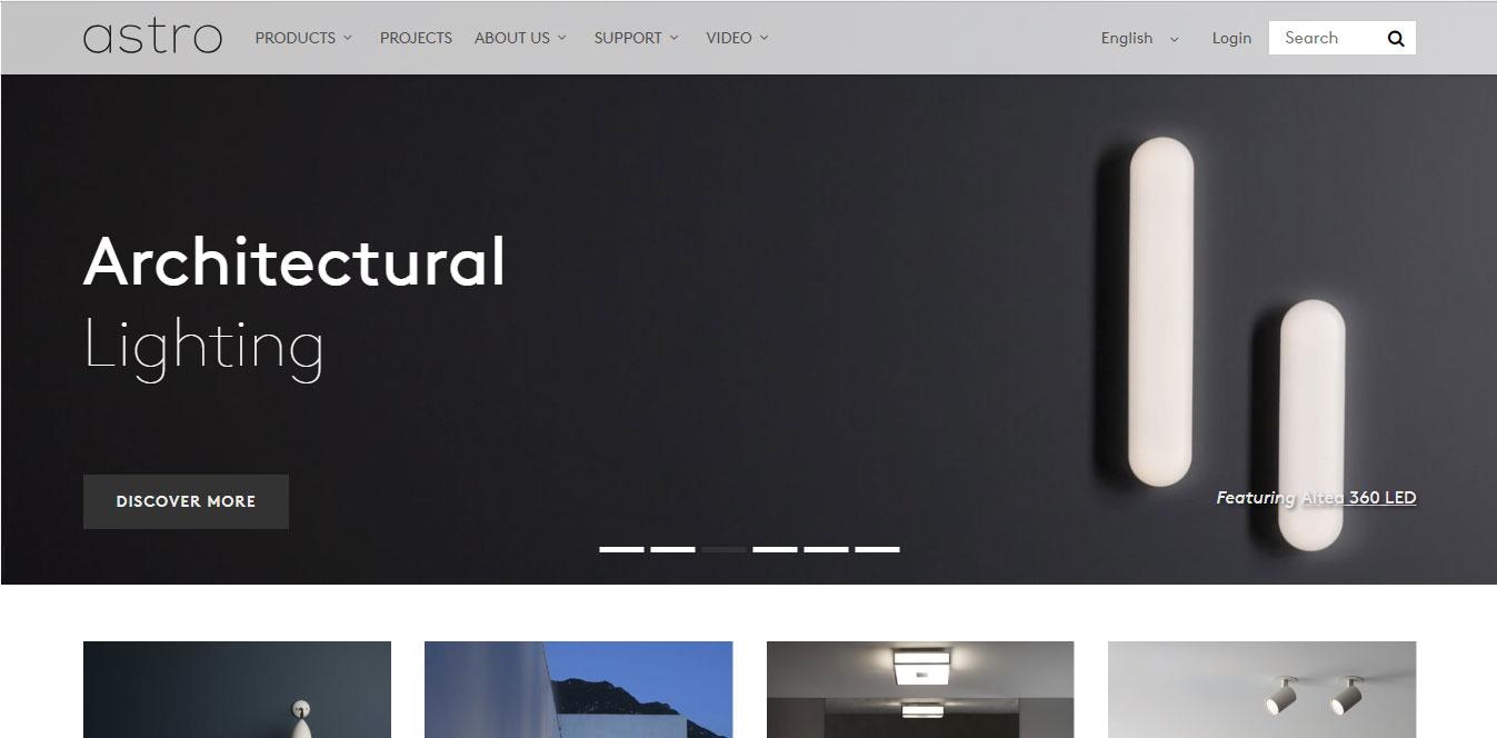 Mẫu thiết kế web nội thất đèn trang trí