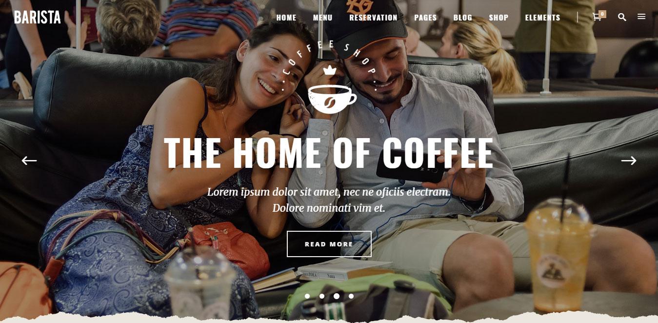 Mẫu web quán cà phê đẹp