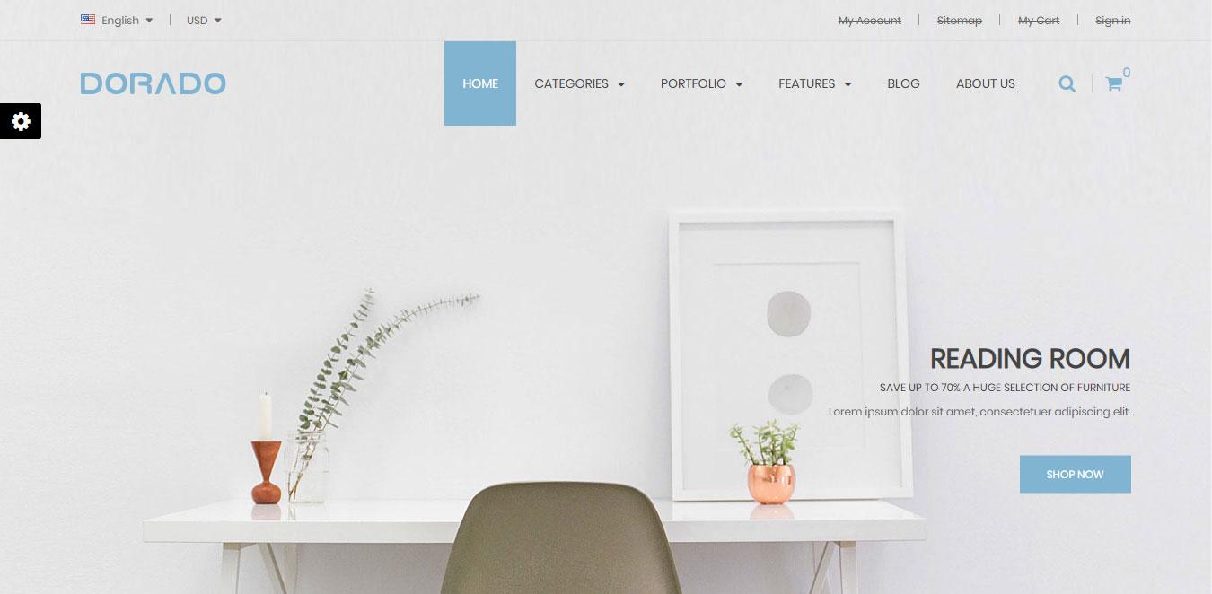 Mẫu web trang trí nội thất chuyên nghiệp