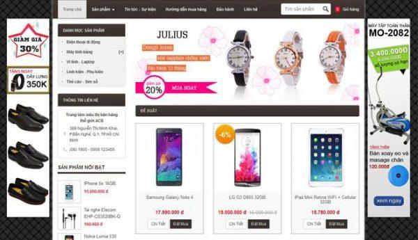 4 điều cần biết để thiết kế web bán hàng online được như ý