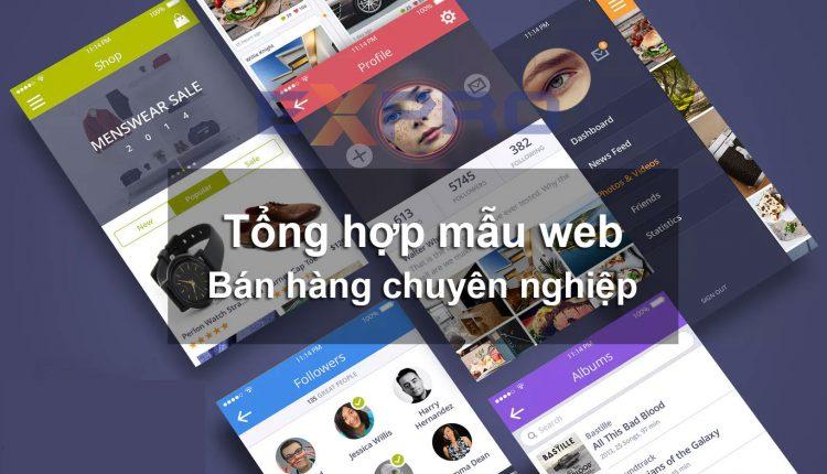 Tổng hợp top các mẫu giao diện website bán hàng tốt nhất đẹp và độc đáo