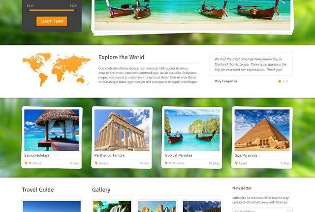 6 mẫu theme vạn người mê cho web du lịch